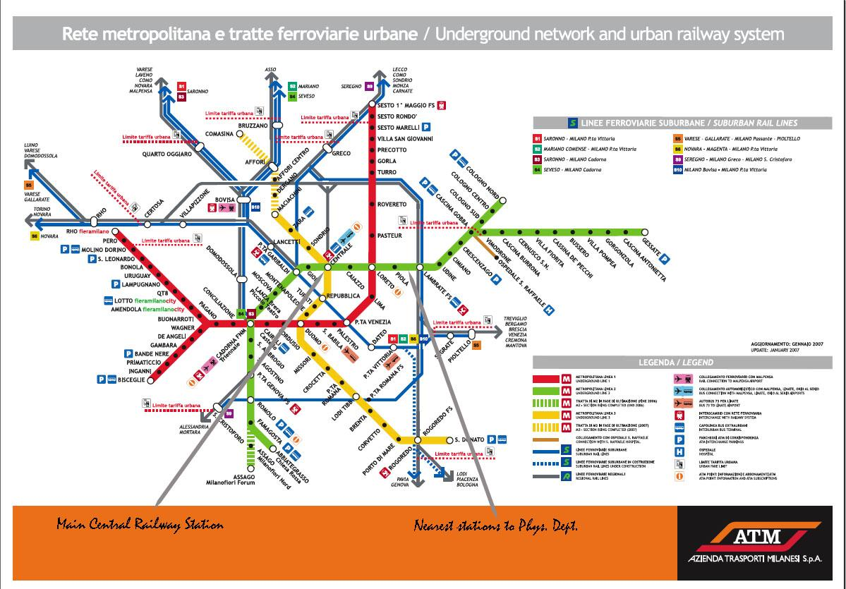 Map Of Italy Train Stations.Milan Train Station Map Milano Train Station Map Lombardy Italy