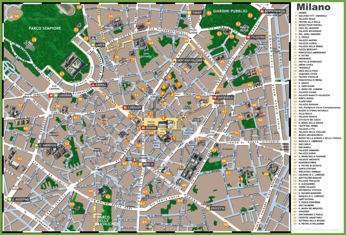 Map Of Italy Milan.Milan Italy Map Tourist Map Of Milan Italy Tourist Attractions