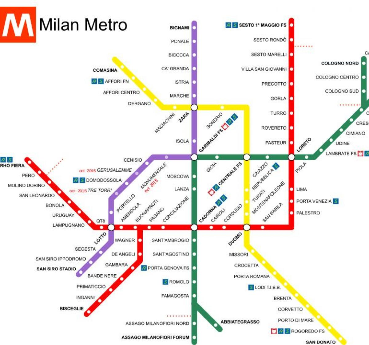 milan italy train station map