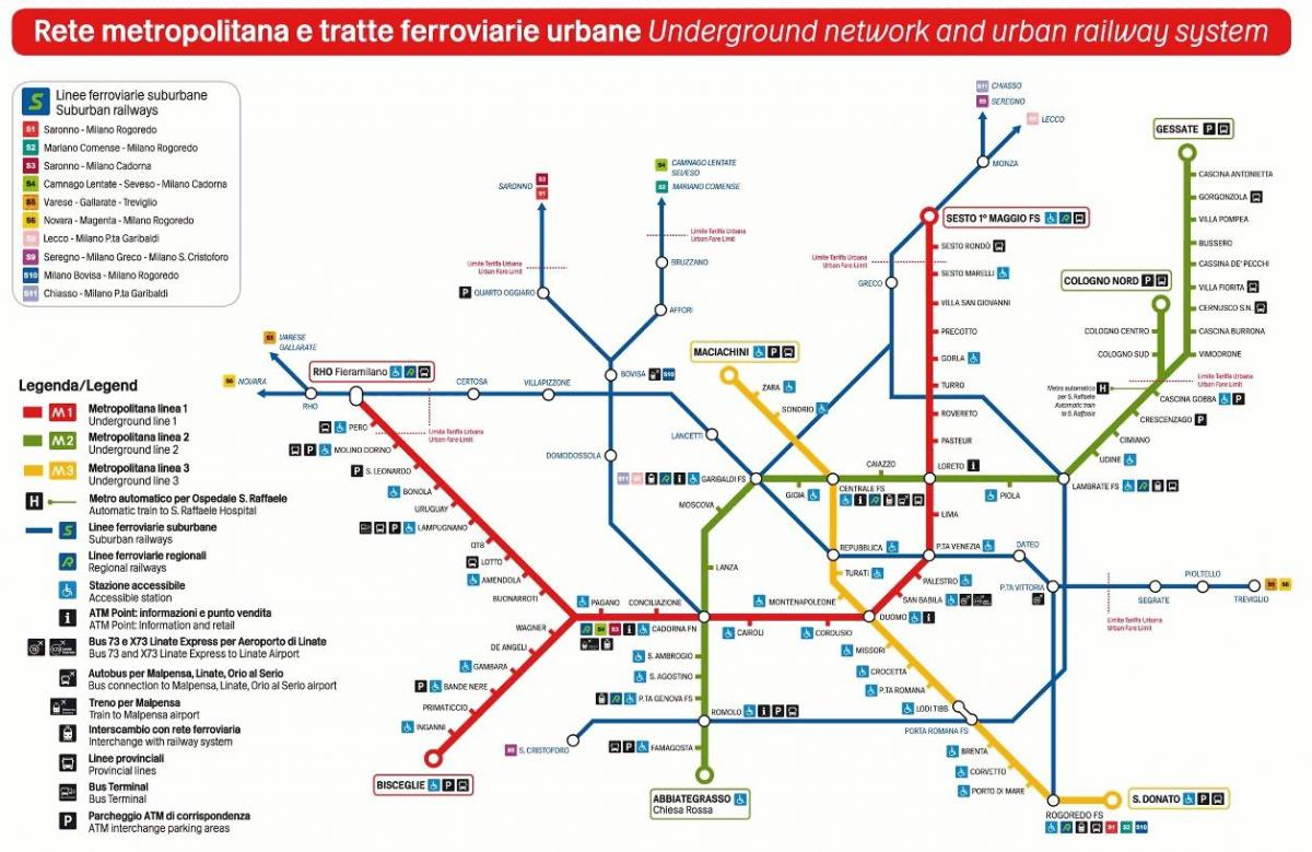 milan transport map
