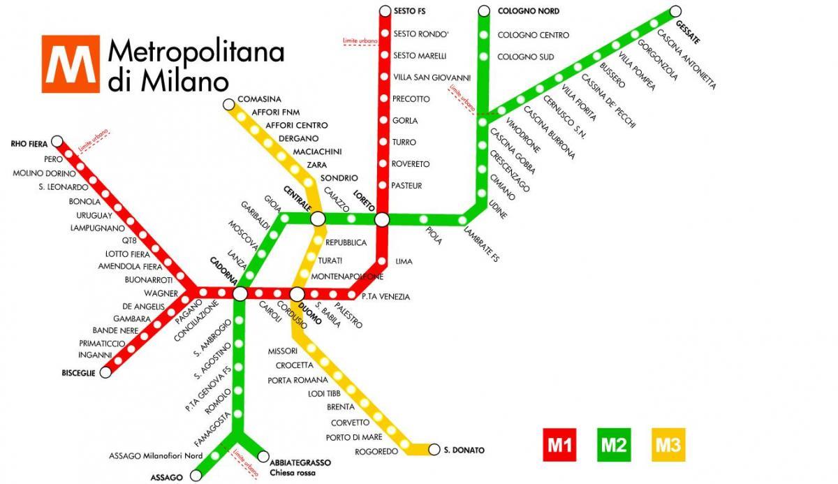 Milan Subway Map.Milan Subway Map Subway Map Milano Lombardy Italy