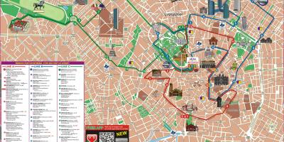 Milan hop on hop off bus tour map