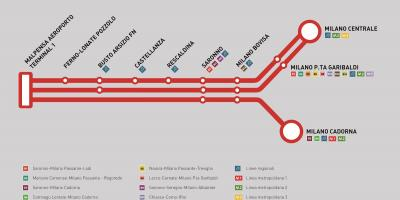 Malpensa express train map