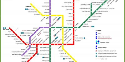 Milano map metro