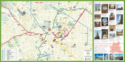 City sightseeing milan map