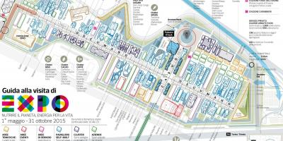 Map of milan expo