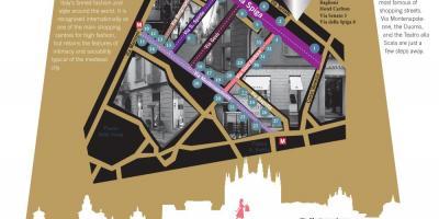 Milan fashion district map - Map of milan fashion district ...
