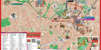 Milan hop on hop off route map