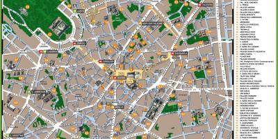 Map of milan italy tourist attractions