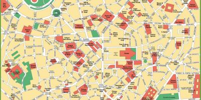 City map of milan italy