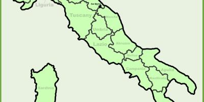 Map of italy showing milan