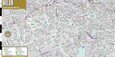 Street map of milan city centre