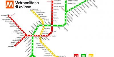 Subway map milano