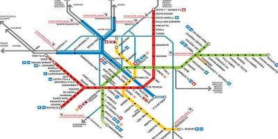 Tube map milano