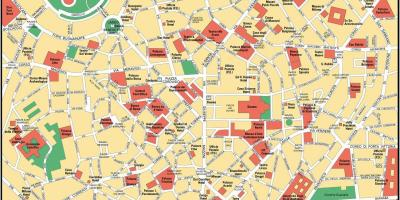 Milan italy city center map